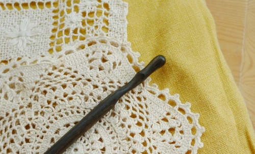 Lace, Wood and Linen