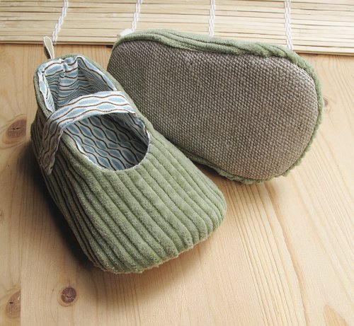 Eco Toes for Toddlers. Sage Corduroy