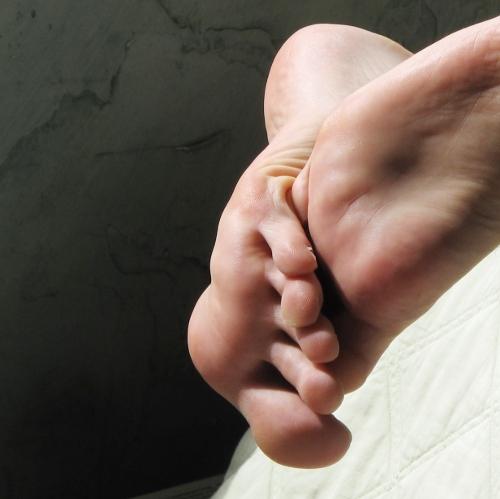 rosy pink feet
