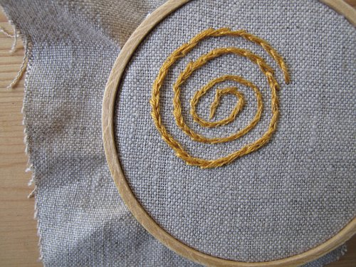 embroidering